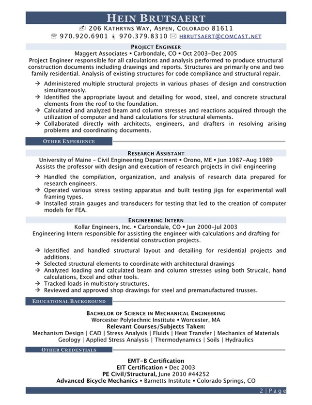structural engineer resume examples april onthemarch co